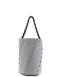 Mochila con cordón de cuero con tachuelas gris de Proenza Schouler
