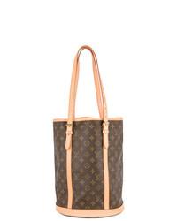 Mochila con cordón de cuero marrón de Louis Vuitton Vintage