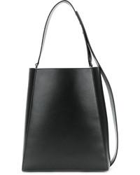 Mochila con cordón de cuero negra de Calvin Klein