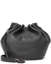 Mochila con cordón de cuero negra de Diane von Furstenberg