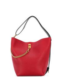 Mochila con cordón de cuero roja de Givenchy