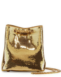 Mochila con cordón dorada de Saint Laurent