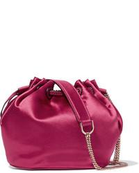 Mochila con cordón rosa de Diane von Furstenberg