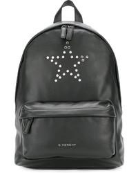 Mochila de cuero de estrellas negra de Givenchy