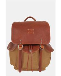 Mochila de cuero marrón de Will Leather Goods