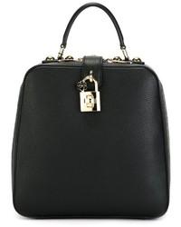 Mochila de cuero negra de Dolce & Gabbana