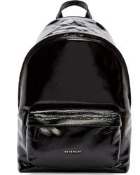 Mochila de cuero negra de Givenchy
