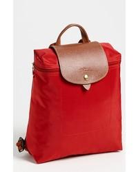 Mochila de lona roja de Longchamp