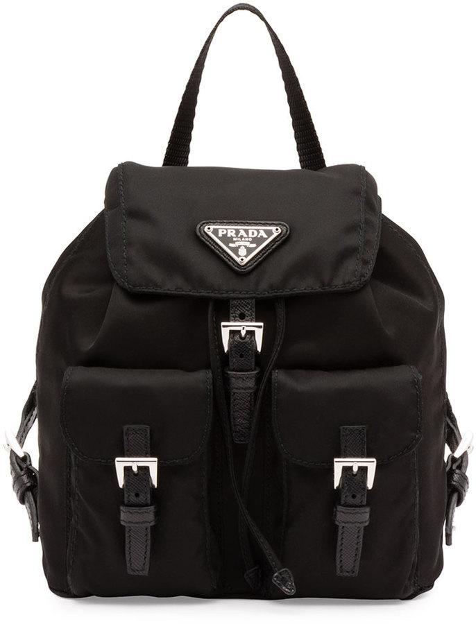 74bba1a0e Mochila de nylon negra de Prada, $950 | Neiman Marcus | Lookastic ...