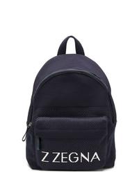 Mochila estampada azul marino de Z Zegna