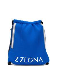 Mochila estampada azul de Z Zegna