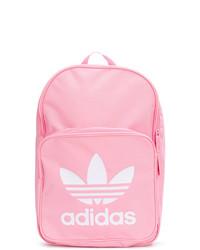 Mochila estampada rosada de adidas