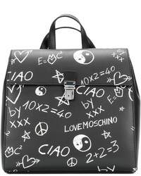 Mochila Negra de Love Moschino