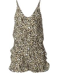 Mono corto de leopardo marrón de Stella McCartney