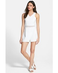 Mono corto de malla blanco de One Clothing
