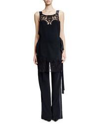 Mono de encaje negro de Givenchy