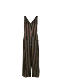Mono de rayas verticales negro de Golden Goose Deluxe Brand