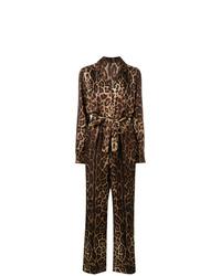 Mono estampado en marrón oscuro de Dolce & Gabbana