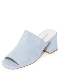 Mules en daim bleues claires Jeffrey Campbell
