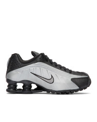 Nike Black And Silver Shox R4 Sneakers