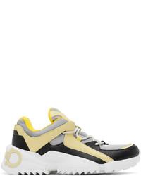 Salvatore Ferragamo Black Grey Skylar Sneakers