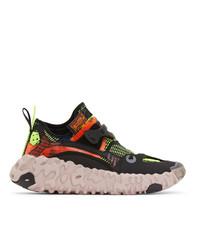 Nike Black Ispa Overreact Flyknit Sneakers