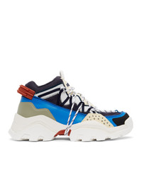 Kenzo Blue And Off White Inka Sneakers