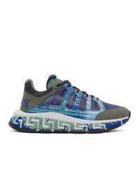 Versace Blue Trigreca Sneakers