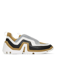 Pierre Hardy Brown Suede Wave Sneakers