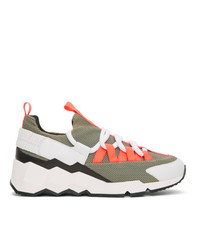 Pierre Hardy Khaki Trek Comet Sneakers