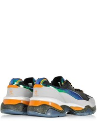 69081e1ed5c ... Mcq Alexander Mcqueen X Puma Multicolor Leather And Fabric Tech Runner  Sneaker ...