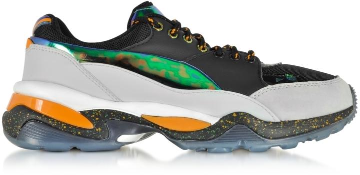 huge discount 8f1b0 e9b61 ... Mcq Alexander Mcqueen X Puma Multicolor Leather And Fabric Tech Runner  Sneaker ...