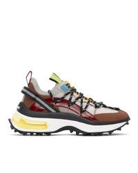 DSQUARED2 Multicolor Bubble Sneakers