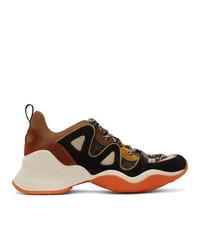 Fendi Multicolor Ffluid Low Top Sneakers