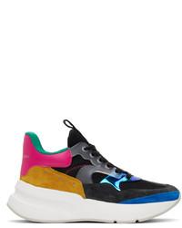 Alexander McQueen Multicolor Suede Sneakers