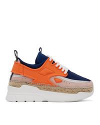 Kenzo Orange K Lastic Sneakers