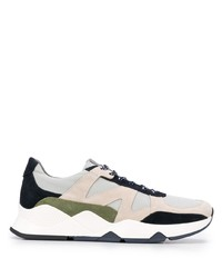 Canali Panelled Low Top Sneakers
