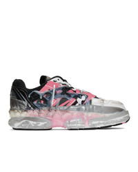 Maison Margiela Pink And Black Fusion Low Sneakers