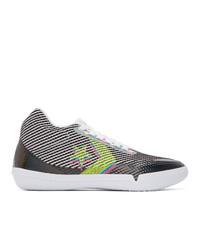 Converse White And Black Bb Evo Iridescent Sneakers