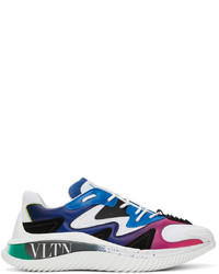 Valentino White Blue Vltn Wade Runner Sneakers