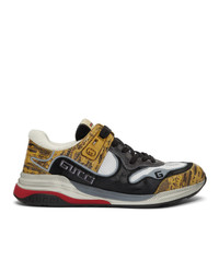 Gucci Yellow And Black Ultrapace Sneakers