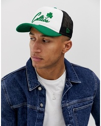 New Era Boston Celtics Trucker Cap In White