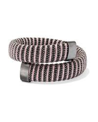 Carolina Bucci Caro Blackened Sterling Silver And Lurex Bracelet