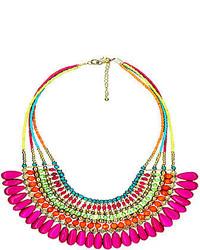 Decree 4 row glass seed bead statet necklace medium 119477