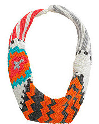 Tribal beaded collar scarf necklace medium 120176