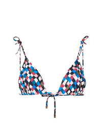 Tory Burch Prism Pattern Triangle Bikini Top