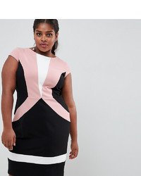 Paper Dolls Plus Colour Block Detail Pencil Dress