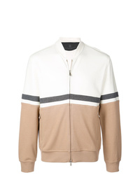Brunello Cucinelli Colour Block Bomber Jacket