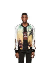Balmain Multicolor Palm Tree Bomber Jacket