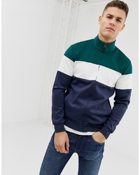 Pier One Track Top In Colour Block With Funnel Neck